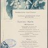 Dinner held by Nordeutscher Lloyd aboard KronPrinzessin Cecile (German, English)