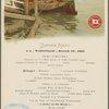 Dinner held by Red Star Line Antwerpen aboard S.S. Vaderland