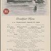 """Breakfast menu, S. S. """"Vaderland,"""" March 17, 1910."""