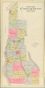 Cayuga County, Left Page  [Map bounded by Map of Gayuga County, NY]