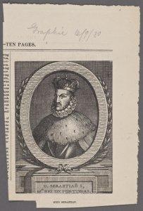D. Sebastião I, 16o. Rei de Portugal.