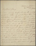 Autograph letter signed to Percy Bysshe Shelley, 26 May 1813