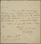 Autograph letter signed [?George Baker Ballachey], ?18-19 August 1813