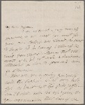 Autograph letter signed to Thomas Jefferson Hogg, 25 April 1815