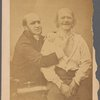 """Frontispiece : Dr. Duchenne posing with the """"Old Man"""", his favorite model]"""