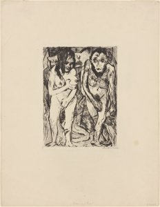 Adam and Eve / Max Beckmann.