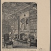 The library, Abbotsford, with portrait of Sir W. Scott's eldest son.