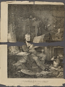 Sir Walter Scott in his study at Abbotsford / engraved on steel by John Burnet from the painting by William Allan, R.A.