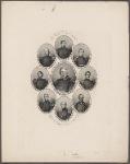 Generals of our army 1861. Lieut. Gen. Winfield Scott. Maj. Gen. Geo. B. McClellan. Maj. Gen. John A. Dix. Maj. Gen. Nathl. P. Banks. Brig. Gen. Nathl. Lyon. Maj. Gen. John E. Wool. Brig. Gen. Robt. Anderson. Maj. Gen. J.C. Fremont. Maj. Gen. Benj. F. Butler