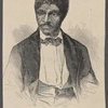 """""""Dred Scott--photographed by Fitzgibbon of St. Louis.""""--This portrait appeared in Vol. IV, June 27th, 1857, and illustrated the most celebrated slave case ever tried. The case was concerning the freedom of a negro who had gone to a free state and returned to a slave state. It was carried to the Supreme Court, where chief Justice Taney said the southern belief was that a negro had no rights which a white man was bound to respect."""