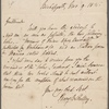 Autograph letter signed to Lackington, Allen & Co., 9 Nov 1815