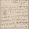 Autograph letter signed to William Godwin, 26 - 27 February 1816