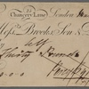 Autograph check (partly engraved) signed to Brooks, Son and Dixon, 11 March 1816