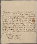 Autograph letter unsigned to William Godwin, 16 March 1816