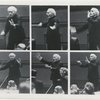 Six small pictures of Toscanini conducting.