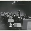 Toscanini conducting in front of orchestra. [
