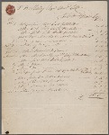 Itemized tailor bill for Percy Bysshe Shelley, 25 March 1811