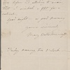 Autograph letter signed to Reverend Henry Dyson Gabell, ?9 February - ?15 April 1787