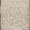 Autograph letter signed to Captain Walter Bathurst, 29 May 1810