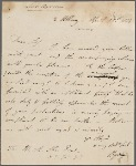 Autograph letter signed to Martin Archer Shee, 15 April 1814