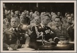 On January 30th the Fuhrer spoke to the German people and the whole world.  Here are the delegates to the Reichstag.  At the center is Governor Seyss-Inquart (of the Osmark) and Konrad Henlein (of the Sudetenland).