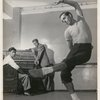 Jerome Robbins with Leonard Bernstein and Oliver Smith.