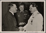 On January 12th General-Field Marshal Goering celebrated his 47th birthday.  The Fuhrer's handshake conveyed the good wishes and thanks of the whole nation.