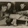 Some hoped that Germany's air strength would be crippled.  But in the Reich, all age groups of the coming generation saw to it that Germany was not only equipped for the present war, but had become a nation of fliers.  In a National Socialist Flying Corps workshop the little ones tinker with airplane models.]