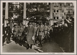 "[On September 4th the Fuhrer opened the second Winter Relief Drive.  In his speech he assured the English that they could be confident that ""We are coming!""  For the last time he warned against the unscrupulous bombing of German workers' homes.]"