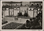 On January 24th, birthday of Frederick the Great, the Führer spoke to 7000 Army and Air Force officer cadets in the Berlin Sports Palace.  He addressed the bearing and duties of German officers and was greeted with cheers by the officers of Greater Germany.