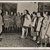 [The Fuhrer's birthday was also celebrated in the General Government (of Poland).  In Cracow castle the General Governor, Reichs Minister Frank, arranged a great reception, in which a delegation of Goralen took part.]