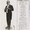 Clef Club of New York program cover, with James Reese Europe holding a baton