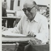 Photograph of Igor Stravinsky wearing sunglasses. [no. 50]