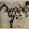 Commander-in-Chief of the Italian Air Force General Valle, invited to Germany along with his staff by General-Field Marshal Goering for important talks, in conversation with the General-Field Marshal at Karinhall (Goering's country estate).]
