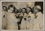 Commander-in-Chief of the Italian Air Force General Valle, invited to Germany along with his staff by General-Field Marshal Goering for important talks, in conversation with the General-Field Marshal at Karinhall (Goering's country estate).