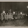 Adolf Hitler honored military leaders.  In our picture the Fuhrer speaks to his generals.]