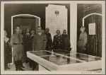 "[The Fuhrer's representative, Reich Minister Rudolf Hess, opened the Reich's Exhibition ""German Greatness"" in the German Museum in Munich.  Reichsleiter Rosenberg guided him through this show, which was an impressive representation of epochs of German history.]"