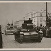 In Brest-Litovsk a big parade takes place in front of the commanding general of a German army corps and Russian Brigadier General Krivoshein (as representative of the Red Army) on the occasion of the meeting of German and Soviet-Russian soldiers.  Soviet-Russian armored vehicles after the parade.]