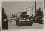 In Brest-Litovsk a big parade takes place in front of the commanding general of a German army corps and Russian Brigadier General Krivoshein (as representative of the Red Army) on the occasion of the meeting of German and Soviet-Russian soldiers.  Soviet-Russian armored vehicles after the parade.