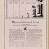 Milestones in National Service: An Advertisement of the American Telephone and Telegraph Company