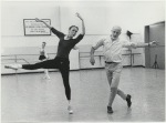 Allegra Kent and Jerome Robbins rehearsing his ballet, Dances at a Gathering