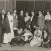 Group of actors on stage in costume during the 1919 Actors' Strike