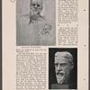 Bildnisbüste des Schriftstellers Bernard Shaw. Gebrabbter Ton.