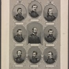 The generals of the Potomac. [Center, and then clockwise, from upper left:] Genl. Meade. Genl. Stoneman. Genl. Averill. Genl. Custer. Genl. Sheridan. Genl. Wilson. Genl. Greigson. Genl. Pleasanton. Genl. Kilpatrick. Genl. Stoneman