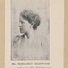"Miss Margaret Sherwood. Author of ""The story of King Sylvain and Queen Aimée."""