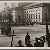Admiral von Trotha, a worthy fighting man of the German Navy and a leader of youth, has returned home.  The Fuhrer was in attendance at his state funeral, accompanied by Grand Admiral Dr. h.c. Raeder, General Field Marshal Keitel and General Field Marshal Milch.  The ceremony took place on the Unter den Linden in Berlin in front of the Cenotaph.]