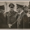 On the return trip, Adolf Hitler met French head of state Marshal Petain at a location in central France.]