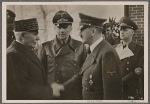 On the return trip, Adolf Hitler met French head of state Marshal Petain at a location in central France.