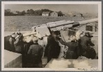 On the German coast naval troops and artillery also stand watch over the security of the Reich.