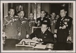 Also among the well wishers who entered their names in the birthday register in the new Reich Chancellery in Berlin was the Japanese ambassador General Oshima, along with senior Japanese officers.
